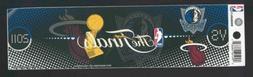 2011 miami heat nba finals bumper sticker