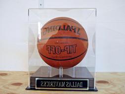Basketball Display Case For Your Dallas Mavericks Team Autog