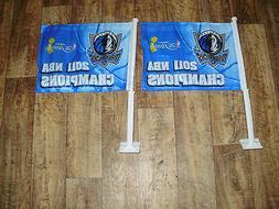 DALLAS MAVERICK'S 2011 NBA CHAMPIONSHIP CAR FLAGS MINT NEVER