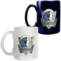 dallas mavericks 15oz coffee mug set navy