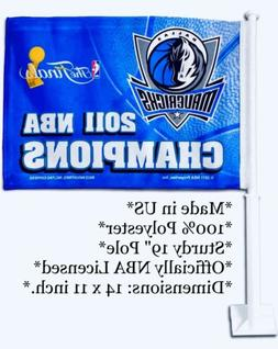 DALLAS MAVERICKS 2011 NBA CHAMPIONS CAR FLAG BANNER NEW WITH