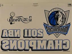 Dallas Mavericks 2011 NBA Champions Reusable Static Cling Ju