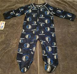 NBA Dallas Mavericks Baby Zip Up Coverall Footed Pajamas Siz