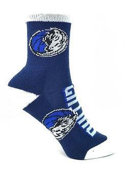 Dallas Mavericks Basketball Navy Youth Socks with White Heel