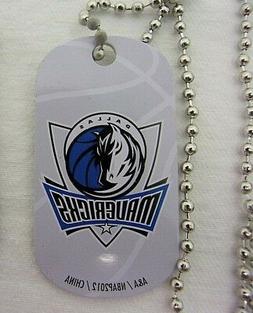 NBA Dallas Mavericks Blue Logo Dog Tag Necklace backpack zip