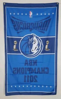 Dallas Mavericks Championship Banner 3x5 Ft Flag Man Cave De
