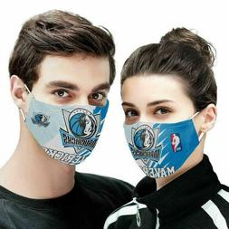 dallas mavericks cotton face mask reusable unisex