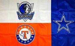Dallas Mavericks Cowboys Texas Rangers Flag 3x5 ft NBA NFL M