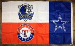 dallas mavericks cowboys texas rangers flag 3x5