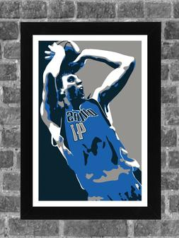 Dallas Mavericks Dirk Nowitzki Portrait Sports Print Art 11x