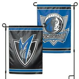 "DALLAS MAVERICKS DOUBLE SIDED GARDEN FLAG 12""X18"" YARD BANNE"