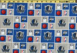 DALLAS MAVERICKS Fabric 100% Cotton NBA Basketball *REMNANT*