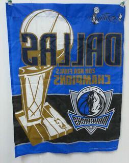 DALLAS MAVERICKS FLAG BANNER THE FINALS 2011 NBA CHAMPIONS C