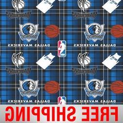 "Dallas Mavericks Fleece Fabric - 60"" Wide - Style# 5006 - Fr"