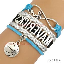 Dallas Mavericks Infinity Bracelet Basketball Charm Quality