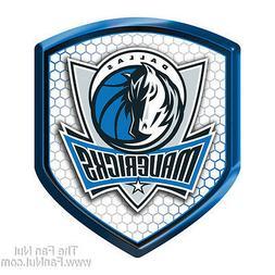 Dallas Mavericks Mavs SHIELD Reflector Emblem Decal Basketba