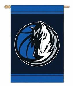 Dallas Mavericks NBA 28x44 Double  Sided Applique Banner Fla