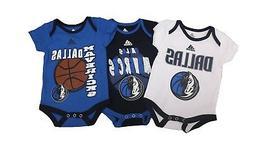 Dallas Mavericks NBA Adidas Baby Infant Size 3 Piece Creeper