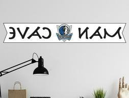 Dallas Mavericks NBA Logo Wall Decal Sport Basketball Man Ca