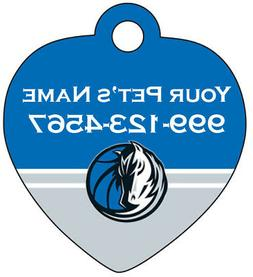 Dallas Mavericks Pet Id Tag for Dogs & Cats Personalized w/
