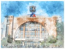 Dallas Mavericks Poster Architectural Design Art Print Man C