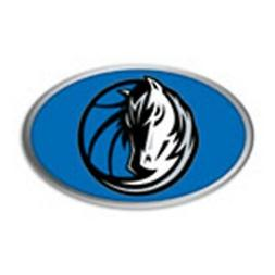 Dallas Mavericks Raised Metal Oval Color PV Chrome Auto Embl