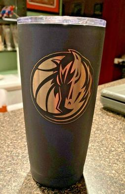 dallas mavericks travel tumbler coffee mug