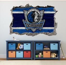 Dallas Mavericks Wall Art Decal 3D Smashed Basketball NBA Wa
