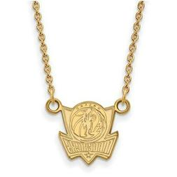 dallas mavericks women s gold plated pendant