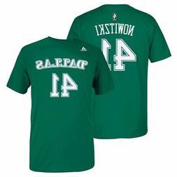 Dirk Nowitzki Dallas Mavericks NBA Adidas Green Name & Numbe