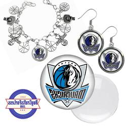 free design dallas mavericks earrings pendant bracelet