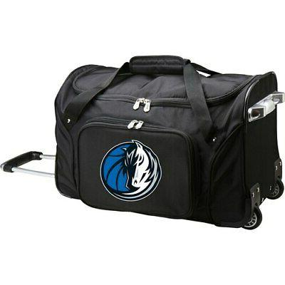dallas mavericks 22 2 wheeled duffel bag
