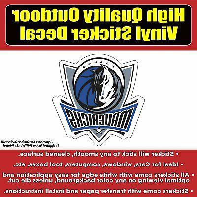 dallas mavericks basketball vinyl car window laptop
