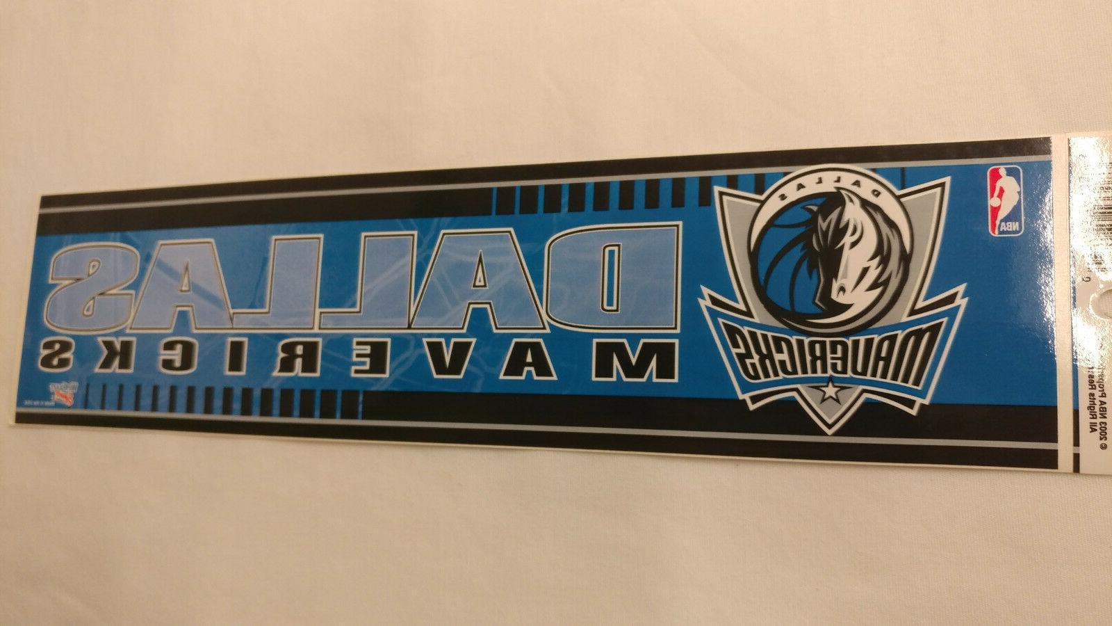 dallas mavericks bumper strip sticker