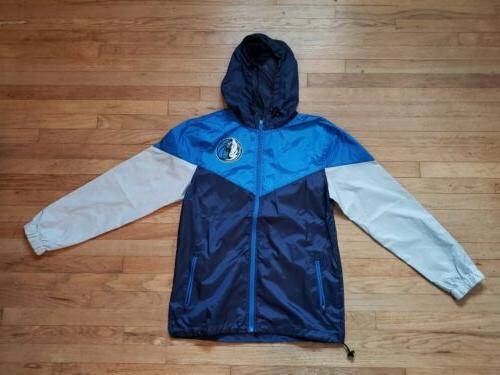 dallas mavericks colorblock windbreaker jacket men small