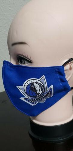Dallas Mavericks Face Mask Fabric Washable, Reusable Handmad