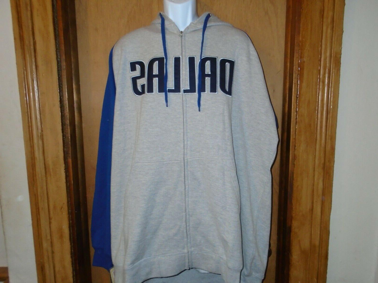 dallas mavericks full zip hooded fleece jacket