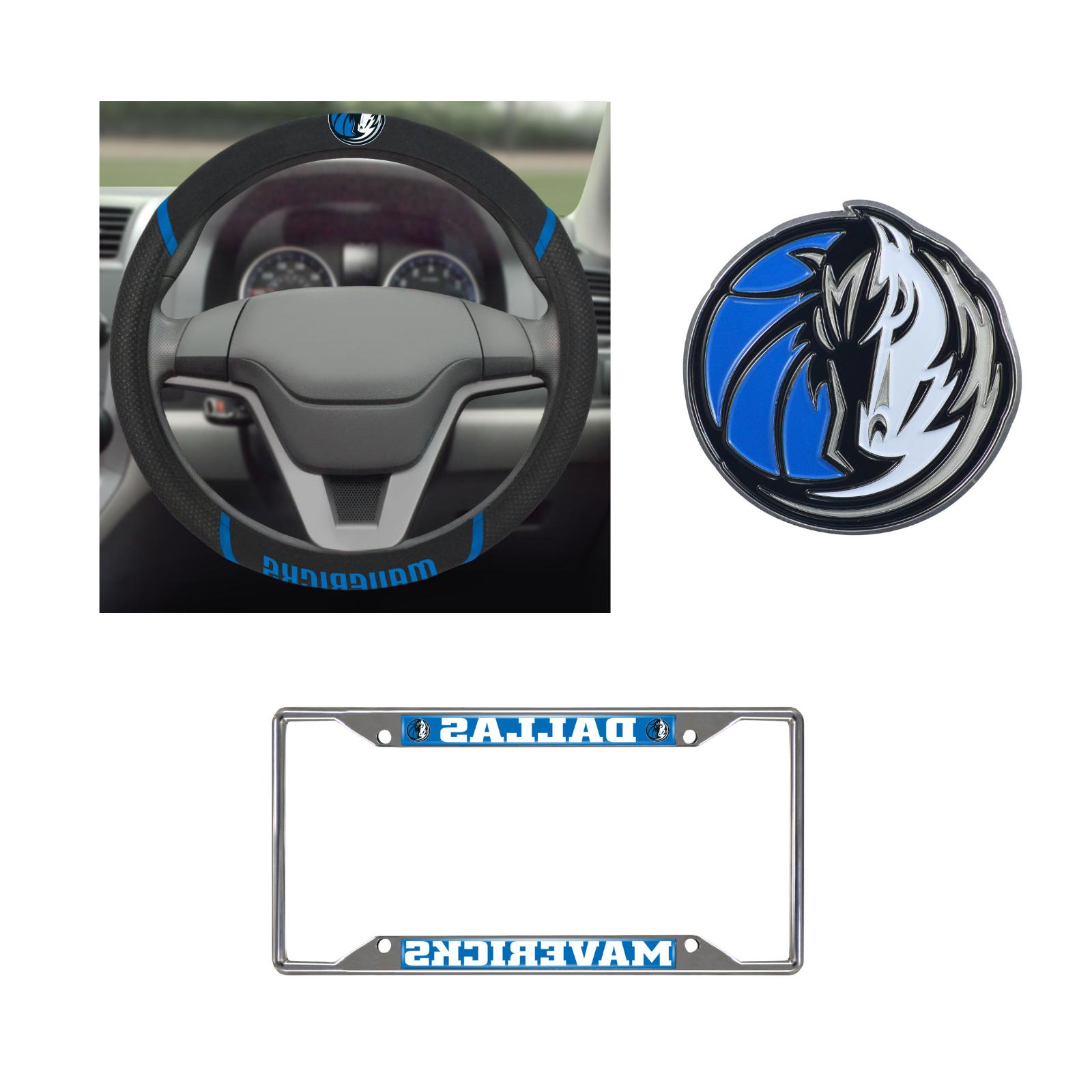 dallas mavericks steering wheel cover license plate