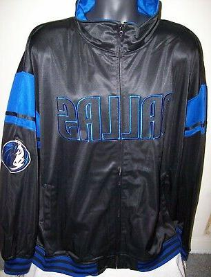 dallas mavericks track jacket black thick polyester