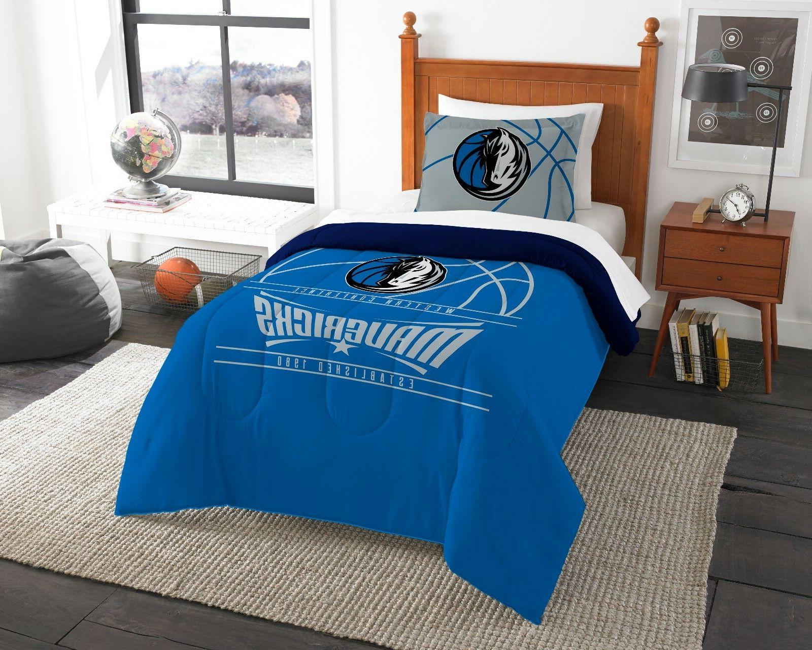 dallas mavericks twin comforter and sham reverse