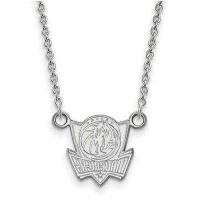 dallas mavericks women s sterling silver pendant