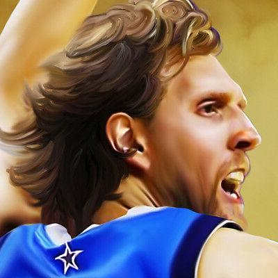 DIRK Dallas Icon Painting on CANVAS Wall Art
