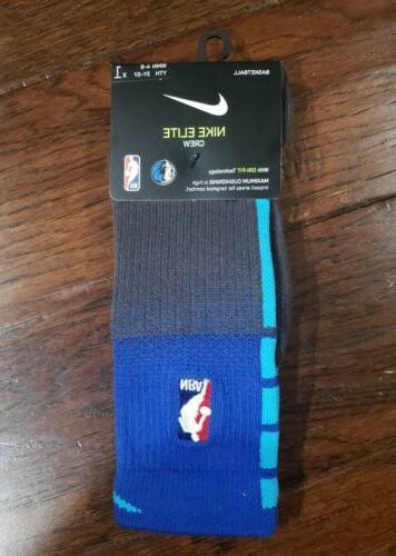 mens nba dallas mavericks elite crew socks