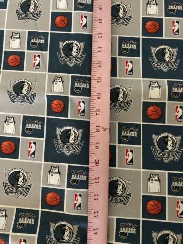 NBA Cotton Fabric BTY 1 Vintage RARE OOP