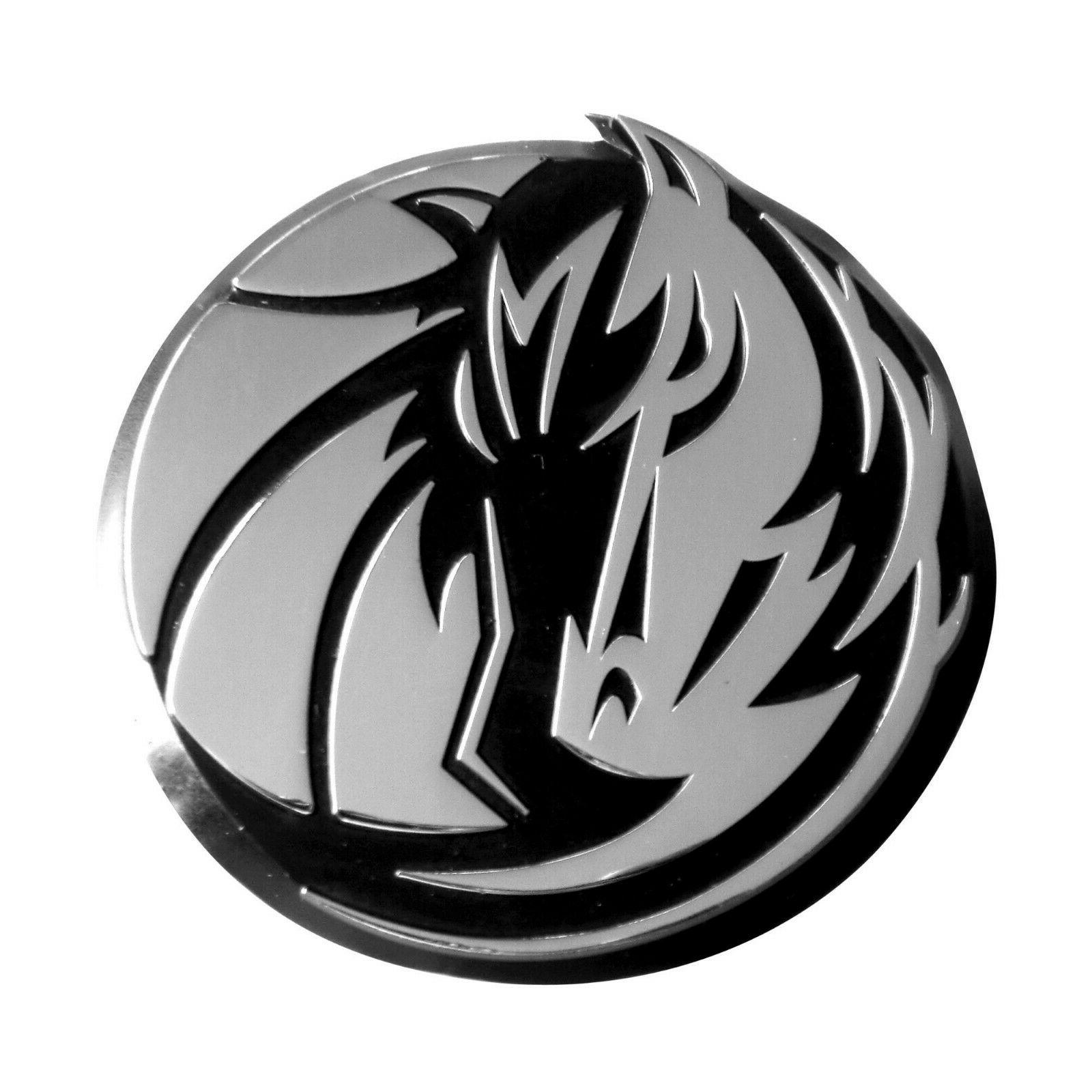 nba dallas mavericks diecast 3d chrome emblem