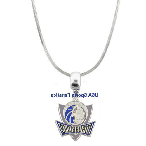 nba dallas mavericks team logo pendant necklace