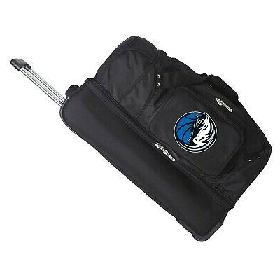 nba drop bottom rolling duffel luggage dallas