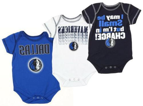 nba infant dallas mavericks 3 piece bodysuit