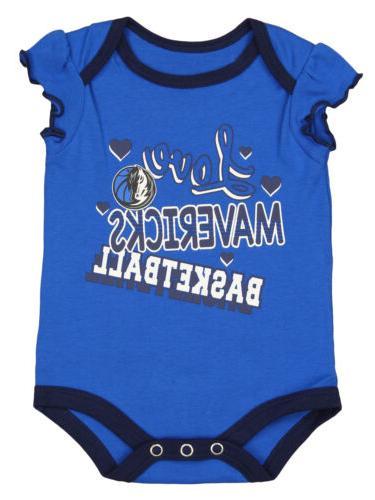Outerstuff Infants Mavericks Dribble Time 3 Pack Creeper Set