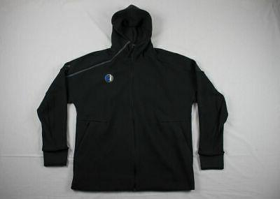 new dallas mavericks black cotton jacket 2xl